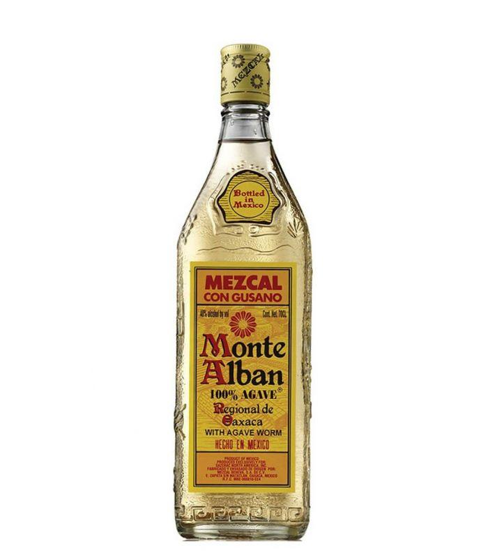 Mezcal Monte Alban met Rups 70cl