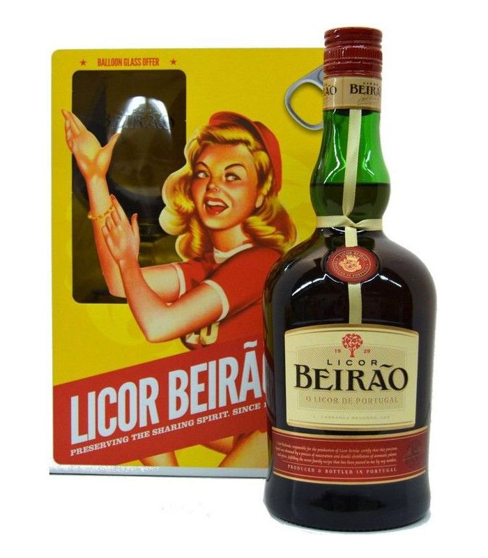 Licor Beirao Giftpack + Glas 70cl