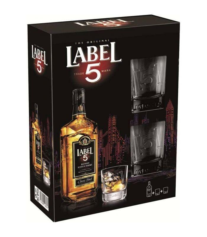 Label 5 Giftpack + 2 Glazen 70cl