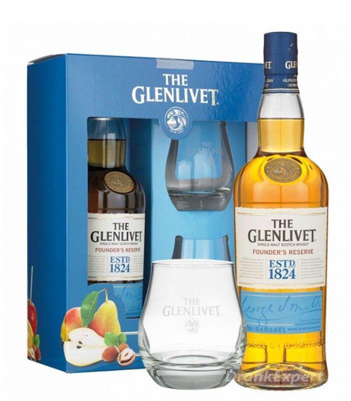 The Glenlivet Founder's Reserve Gift Pack 70cl