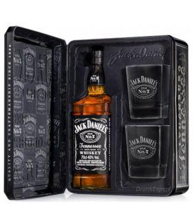 Jack Daniel's Tin Met Glazen 70cl