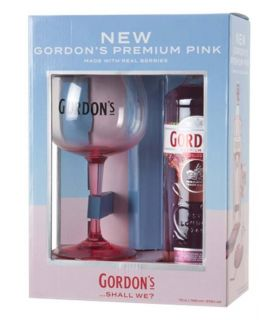 Gordon's Pemium Pink Gin Gift Pack 70cl