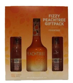 Peachtree Fizzy Giftpack 70cl