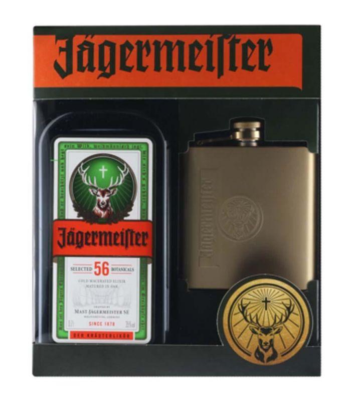 Jagermeister Gift Pack Met Heupfles 70cl