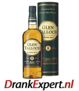 GLEN TALLOCH 8 YRS SCOTCH MALT 70CL