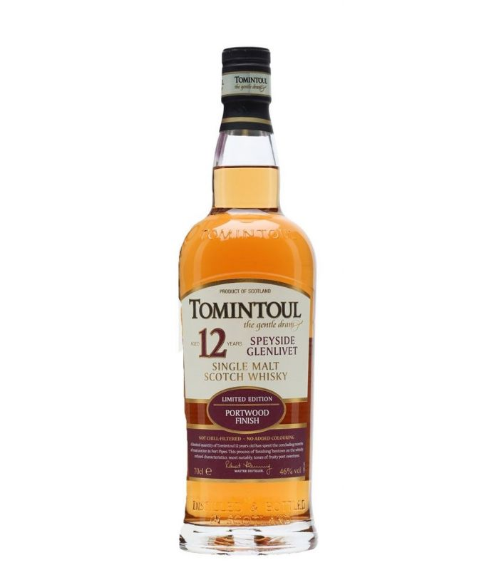 TOMINTOUL 12 YRS PORT SPEYSIDE 70CL